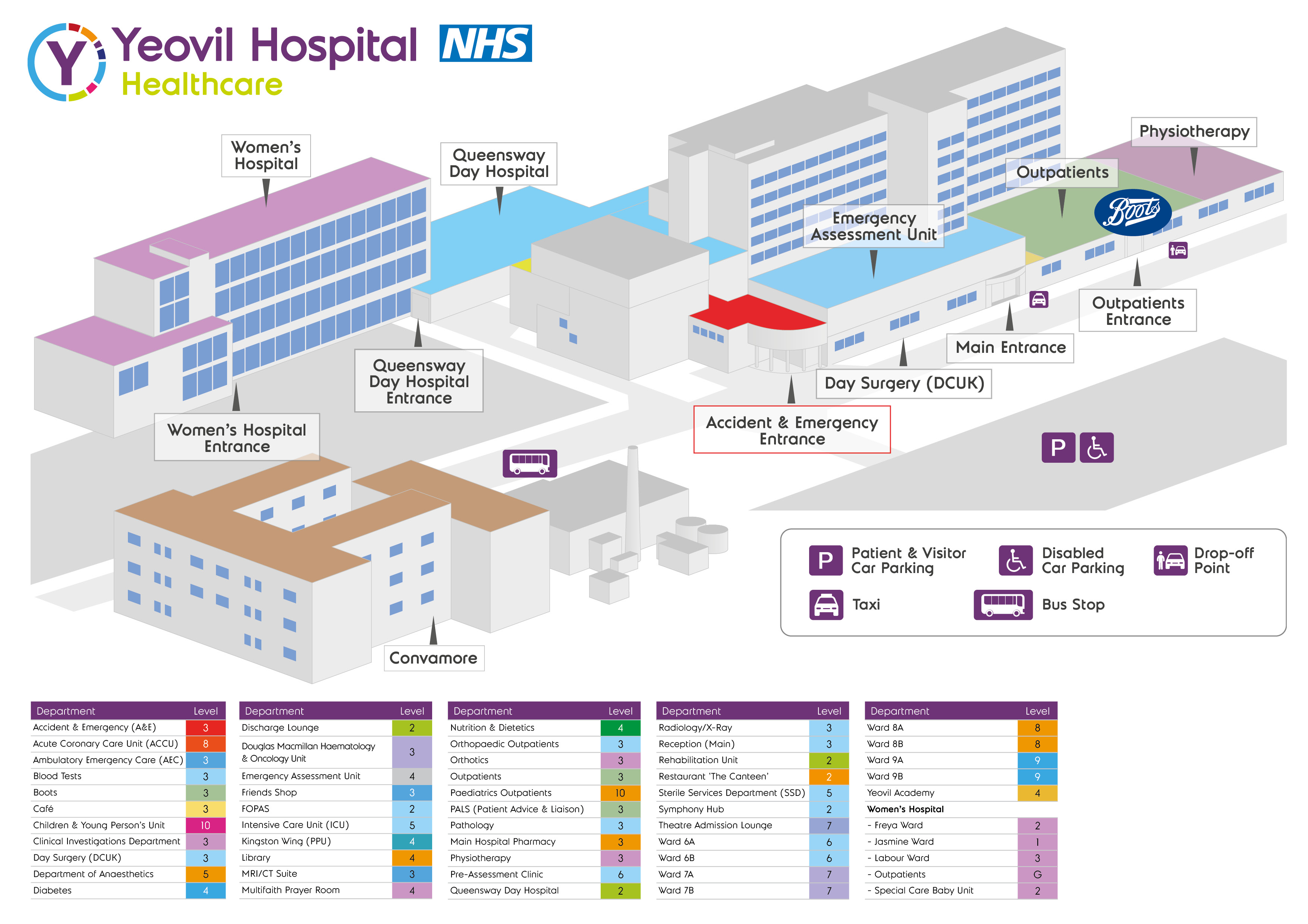 map and floor plan of hospital yeovil district hospital yeovil